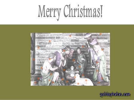 Fröhliche Weihnachten in verschiedenen Sprachen - Englisch