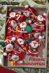 Weihnachtskarte mit Weihnachtsmann