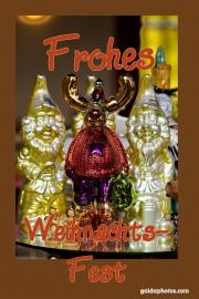 Weihnachtskarte Rentier Elfen