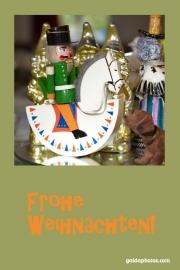 Weihnachtskarte Nussknacker