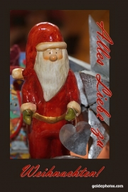 Weihnachtskarte Weihnachtsmann, Nikolaus, Santa Claus mit Herz