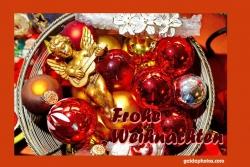 Weihnachtskarte Engel Weihnachtskugeln