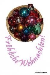 Weihnachtskarte Weihnachtskugeln Korb