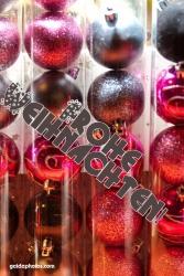 Weihnachtskarte Weihnachtskugeln