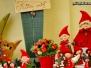 Weihnachtsbilder von Weihnachtsmann, Schneemann und Elf