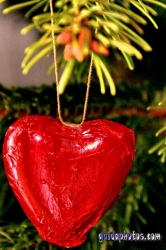 Weihnachtsbilder mit Herz zum selber basteln